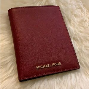 MICHAEL KORS Cherry Passport Holder